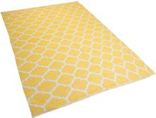Matto 160x230 cm kaksipuolinen keltainen AKSU