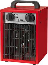 Värmefläkt 2KW 230V Röd