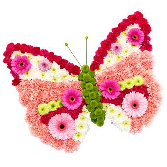 Sommerfuglformet båredekorasjon