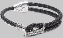 Rannekoru A1859 Leather Bracelet Black