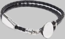 Rannekoru A1863 Leather Bracelet Black