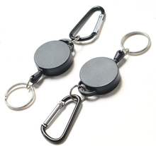 Telescopic Keychain Creative Key Ring Holder Carabiner Outdoor Sports Camping Hiking Retractable Chain Travel Kits