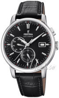 Festina F20280-4 Multifunction Svart/Läder Ø42 mm