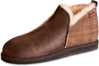Shepherd Mens äkta fårskinn tofflor stövlar skor hårda enda ANTON 4921