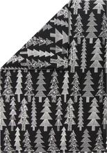 Marimekko Kuusikossa pussilakana 150 x 210 cm, musta - valkoinen