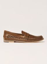 Tan Leather Weave Mantis Loafers