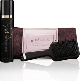 Ghd Stocking Filler Mini Padddle Brush & Heat Protect Spray 120ml Style Set