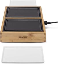 Princess Chef Bordsgrill Dinner4Two Pure 420W metall och bambu