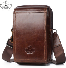 Men Bags Genuine Leather Waist Pack Shoulder Crossbody Bags CrossbMessenger Bag Men Shoulder Bags Phone Pouch Male zznick