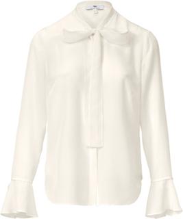 Blus i äkta silke från Uta Raasch vit