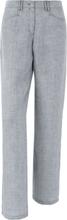 Byxa i äkta linne från Brax Feel Good grå