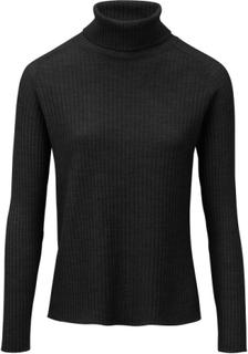 Polotröja i 100% ren ny ull – Biella Yarn från Peter Hahn svart