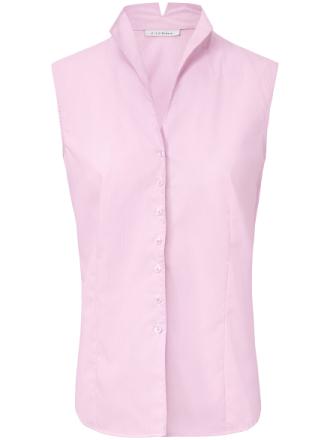 Ärmlös blus ståkrage från Eterna rosa
