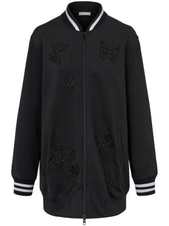 Lång sweatshirtjacka från Margittes svart