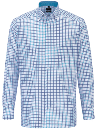 Skjorta button down-krage från Olymp blå