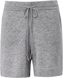 Stickade shorts 100% kashmir i Premium-kvalitet från FLUFFY EARS grå