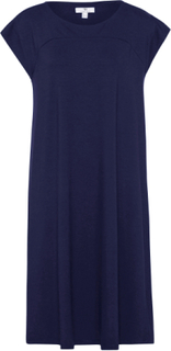 Jerseyklänning holkärm från Peter Hahn blå