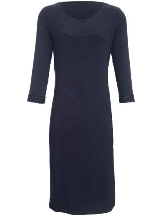 Stickad klänning 3/4-lång ärm från Peter Hahn blå