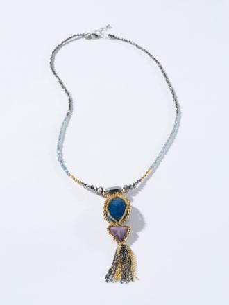 Halsband från Inkadoro blå
