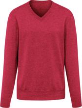 V-ringad tröja i 100% kashmir i Premium-kvalitet, från Peter Hahn Cashmere röd