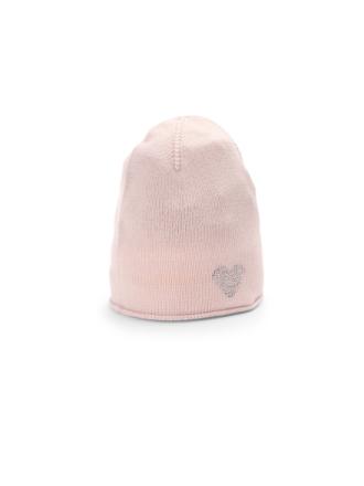 Mössa i ren kashmir från Peter Hahn Cashmere rosa