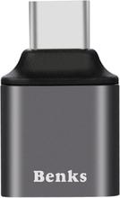 BENKS Universal Mini USB 3.0 Female til Type-C Mann converter adapter