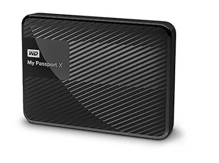 WD My Passport for spillere harddisk svart