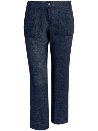 Modern Fit 7/8-byxa i rent linne från Brax Feel Good blå