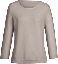Rundhalsad tröja 3/4-ärm från Peter Hahn beige