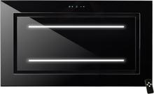Tak-integrerad köksfläkt LYXOR ELITE svart glas 96cm / 120 cm + LED: INTERN eller EXTERN motor