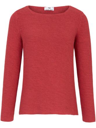 Rundhalsad tröja från Peter Hahn röd