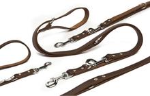 Beeztees Hundkoppel läder brunt 200x1,8 cm 736402