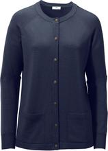 Kofta i 100% ren ny ull, Pure Tasmanian Wool från Peter Hahn blå