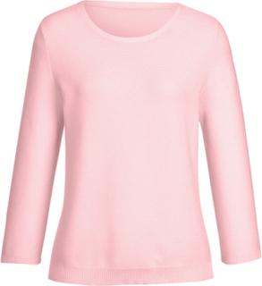 Rundhalsad tröja 3/4-ärm från Peter Hahn rosa