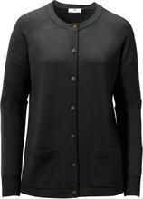 Kofta i 100% ren ny ull, Pure Tasmanian Wool från Peter Hahn svart
