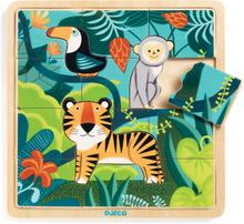 Djeco träpussel - djungel (15 bitar)