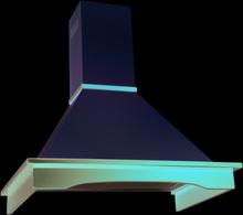 Vägghängd rustik köksfläkt Vildmark 60 cm / 90 cm