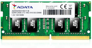 16GB SO-DIMM DDR4, 2400MHz, 260pin, C17,