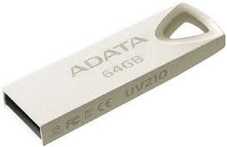 64GB USB Flash Drive, USB 2.0, UV210 MetalBuilt seamlessly and boasting a metallic finish that cover a solid zinc-alloy housing, the UV210 USB Flash drive delivers a stylish statement of simplicity and durability. Thanks to its precision-integrated techno