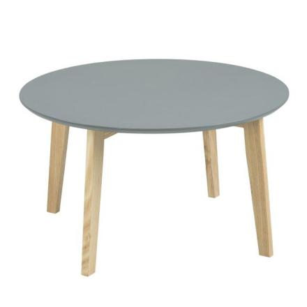 Nordic Rundt gråt sofabord Ø80