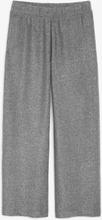 Glitter high waist trousers - Black