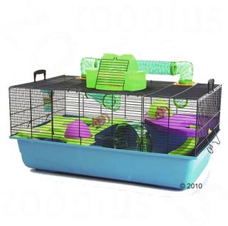 Savic Hamster Heaven 80 - blå / grønn: L 80 x B 50 x H 50 cm
