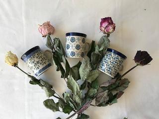 Ceramika Artystyczna 3 koppar espresso / barn koppar, servis ställa...