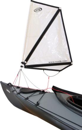 nortik Kayak Sail 0.8 for Faltboats hvid 2018 Tilbehør til gummibåde