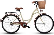 """Cykel Eco 28"""" - gräddvit"""