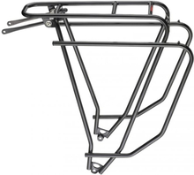 "Tubus Logo EVO 26/28"" Pakethållare Svart, CrMo, 600g, Maks 26 kg"