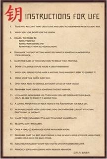 Plakat Dalai Lama - Anvisninger for Livet