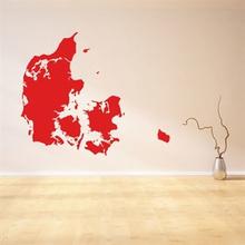 Wallsticker Danmarkskort