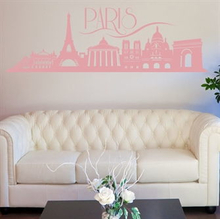 Wallsticker Paris skyline