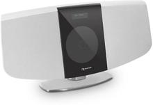 BlackMask vertikal-stereoanläggning CD FM och DAB+ tuner BT vit